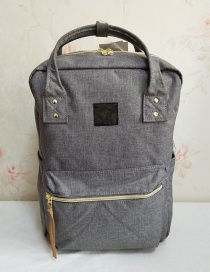 Fashion Gray Oxford Spinning Portable Backpack