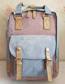 Fashion Light Blue With Light Purple 18 Inch Backpack