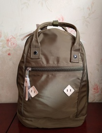 Fashion Armygreen High-density Nylon Backpack
