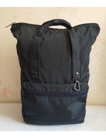 Fashion Navy Waterproof Black Gold Nylon Backpack