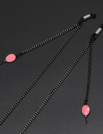 Fashion Black Powder Balloon Chain Glasses Chain