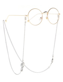 Fashion Silver One Arrow Through The Heart Necklace Glasses Chain Dual Purpose