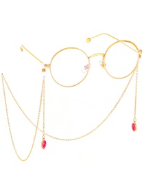 Fashion Gold Non-slip Metal Smiley Face Faded Glasses Chain