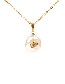 Fashion Gold 8d Shaped Pearl Necklace
