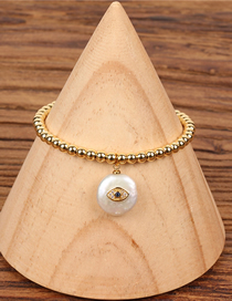 Fashion Gold 4mm Solid Beads Tree Of Life Shaped Pearl Bracelet
