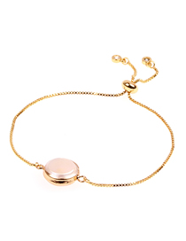 Fashion Gold Pearl Shell Copper Plated Gold Zircon Color Retention Fine Bracelet
