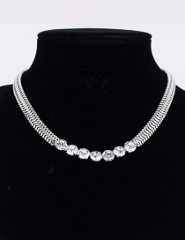 Fashion Silver Diamond Necklace