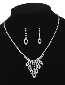 Fashion Silver Necklace Earrings Set