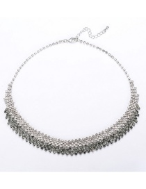 Fashion Silver Gradient Necklace