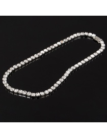 Fashion Silver White Diamond Diamond Necklace