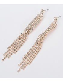 Fashion Gold Fringed Diamond Earrings
