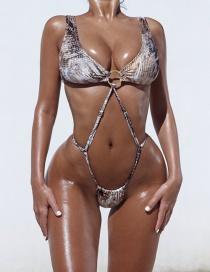 Fashion Snake Serpentine One-piece Swimsuit