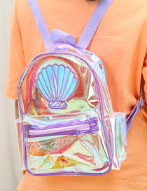 Fashion Violet Laser Transparent Backpack