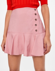 Fashion Pink Breasted Short Skirt