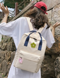 Fashion Creamy-white Flower Backpack