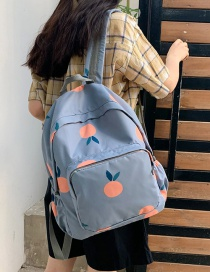 Fashion Lake Blue Flower Backpack