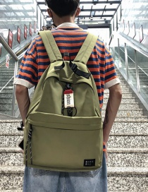 Fashion Green Labeled Backpack