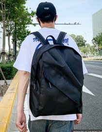 Fashion Black Pleated Backpack