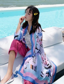 Fashion Color Sheep Print Scarf Sunscreen