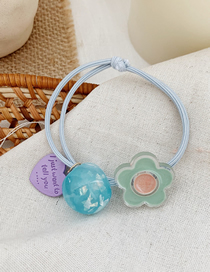 Fashion Blue Flowers Transparent Flower Hair Rope