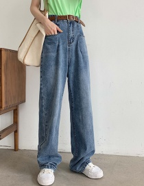 Fashion Blue Mopping Jeans
