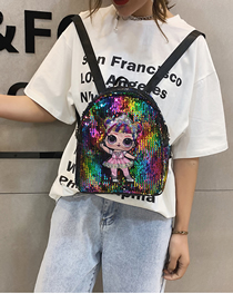 Fashion Color Cartoon Sequin Backpack