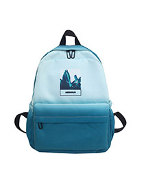 Fashion Light Blue Canvas Backpack