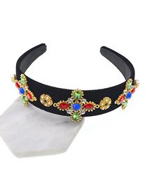 Fashion Color Diamond Cross Crown Headband