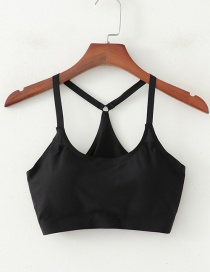 Fashion Black Mesh Wrapped Chest Top