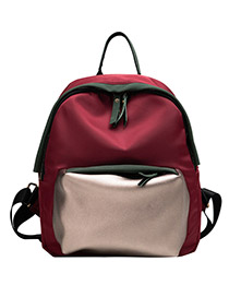 Fashion Red Oxford Cloth Anti-theft Backpack