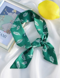 Fashion Chiffon Green Leaf Double-sided Printing Strips 90cm