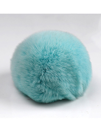 Fashion Sky Blue 8cm Rabbit Fur Ball Keychain