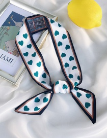 Fashion Beveled Border Love Green Sharp Corner Multi-function Double-sided Love Lattice Scarf