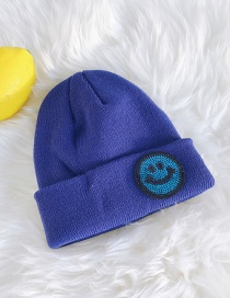 Fashion Smiley Knitted Wool Sequin Cap