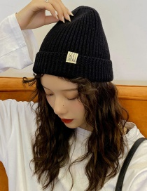 Fashion N-word Patch Black Knitted Cap