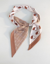 Fashion Two-color Love Houndstooth Wide Strip Double Sided Small Scarf