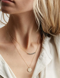 Collar Doble De Cristal De Acero Inoxidable