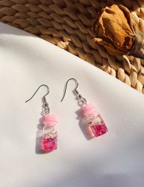 Fashion Pink Marine Shell Jar Earrings