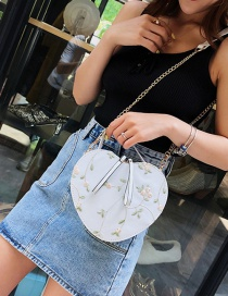 Fashion White Lace Heart Embroidered Crossbody Shoulder Tote