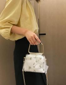 Fashion White Lace Transparent Chain Child Portable Messenger Bag