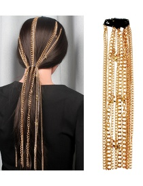 Fashion Gold Metal Fringe Hair Chain