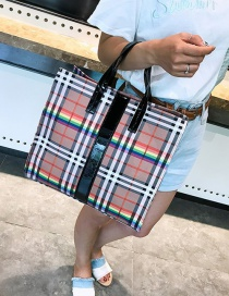 Fashion Black Plaid Printed Shoulder Bag Shoulder Bag