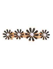 Fashion Black Flower Hair Clip
