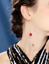 Fashion Asymmetric Earring S925 Sterling Silver Asymmetric Star Stud Earrings