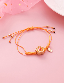 Fashion Yellow Braided Rope Flower Bracelet