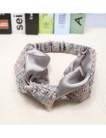Fashion Silver-gray Aristocratic Satin Colorblock Rainbow Hair Band Face Cloth Color Matching Rainbow Mesh Cute Hair Band