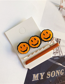 Fashion Orange Smiley Hairpin