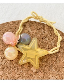 Fashion Yellow Star Rubber Band