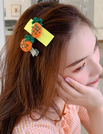 Fashion Fluorescent Color Woven Fruit Hair Clip Set
