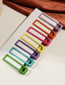 Fashion Square Set Of 7 Geometric Spray Hair Clip